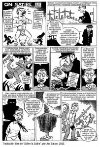 Traducció de la tira còmica de Joe Sacco