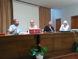 Aguiló, Moll, López i Pons, a la taula rodona.