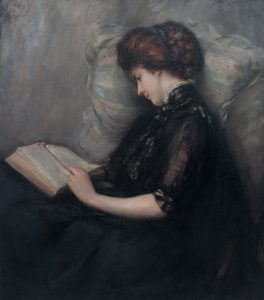 Lady_Reading_Poetry_by_Ishibashi_Kazunori_(Shimane_Art_Museum)