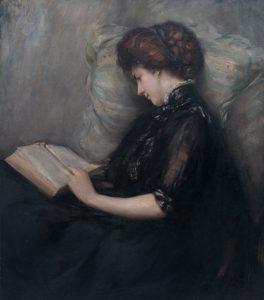 Lady_Reading_Poetry_by_Ishibashi_Kazunori_(Shimane_Art_Museum)