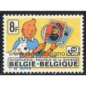 sellos-belgica-1979-filatelia-de-la-juventud-tintin-de-herge-1-valor-correo